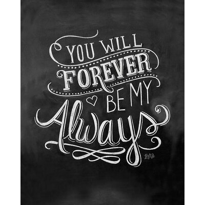 Art Group LiLy and Val - Always Typography Canvas Wall Art