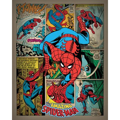Art Group Spiderman - Retro Vintage Advertisement Canvas Wall Art