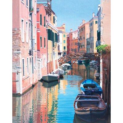 Art Group Margaret Heath - Venice, Canal Reflections Canvas Wall Art