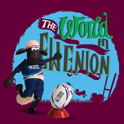 Art Group Rugby World Cup - Shaun The Sheep Ewenion Vintage Advertisement Canvas Wall Art