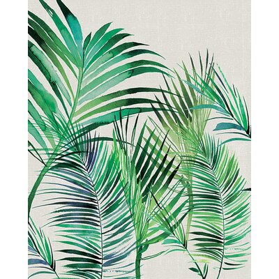 Art Group Summer Thornton - Palm Leaves Canvas Wall Art