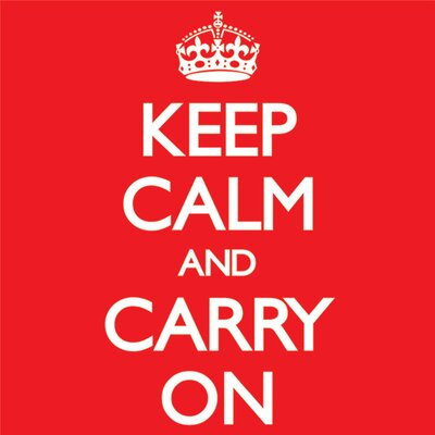 Art Group Keep Calm And Carry On Typography Canvas Wall Art in Red