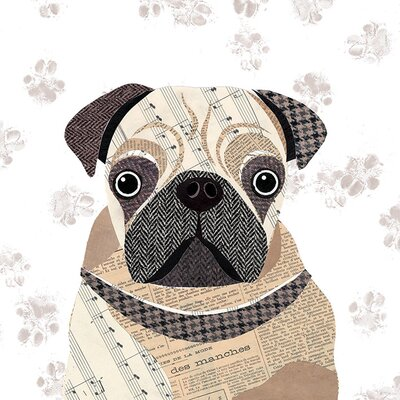 Art Group Simon Hart - Pug Canvas Wall Art