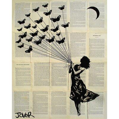 Art Group Loui Jover - Butterflying Canvas Wall Art