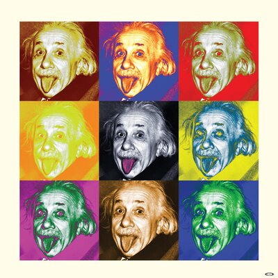 Art Group Albert Einstein - Pop Art Canvas Wall Art