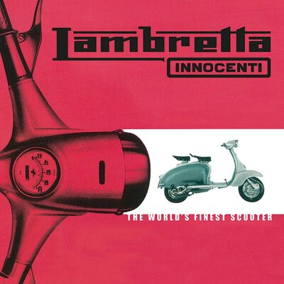Art Group Lambretta - World's Finest Scooter Vintage Advertisement Canvas Wall Art in Pink