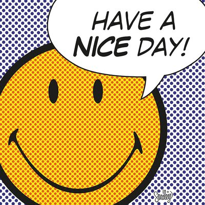 Art Group Have a Nice Day - Dots Canvas Wall Art