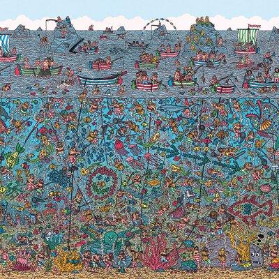 Art Group Where's Wally - the Deep Sea Divers Canvas Wall Art