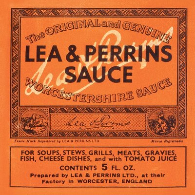 Art Group Lea and Perrins - Label Typography Canvas Wall Art
