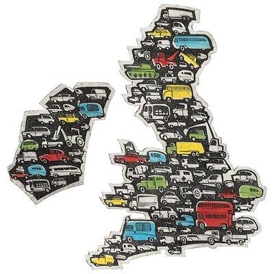 Art Group Barry Goodman - Motorway Map Canvas Wall Art