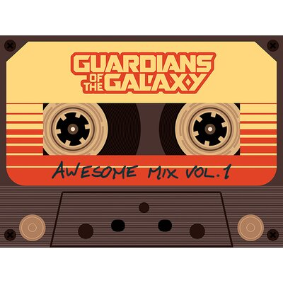 Art Group Guardians of the Galaxy - Awesome Mix Vol 1 Vintage Advertisement Canvas Wall Art