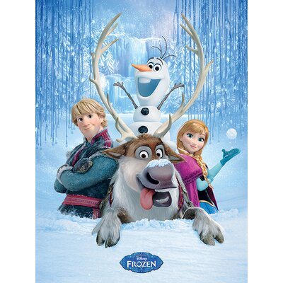 Art Group Frozen - Snow Group Vintage Advertisement Canvas Wall Art