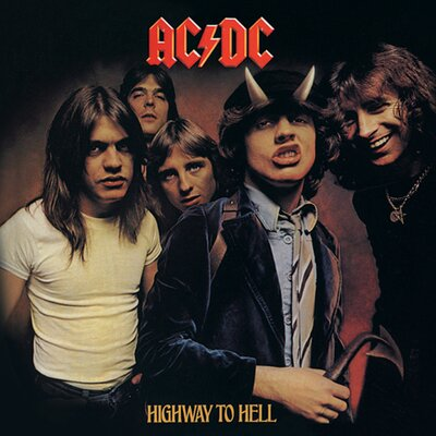 Art Group Ac/Dc - Highway To Hell Vintage Advertisement Canvas Wall Art