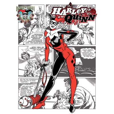 Art Group Harley Quinn - Aka Dr. Harleen Francis Quinzel Vintage Advertisement Canvas Wall Art