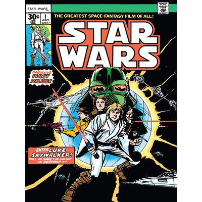 Art Group Star Wars - Enter Luke Skywalker Vintage Advertisement Canvas Wall Art