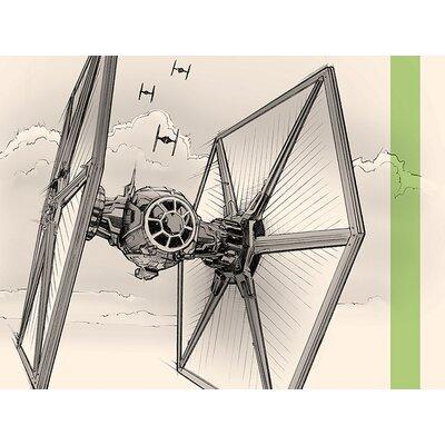 Art Group Star Wars Episode VII - Tie Fighter Pencil Canvas Wall Art