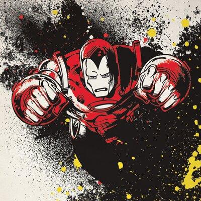 Art Group Iron Man - Splatter Canvas Wall Art