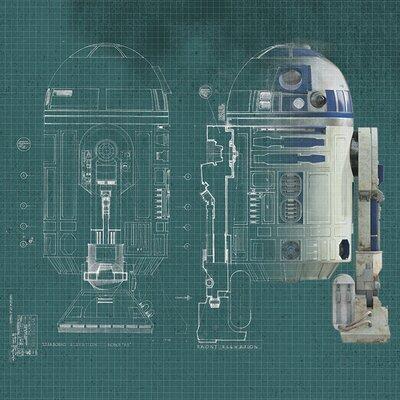 Art Group Star Wars - R2D2 Blueprint Canvas Wall Art