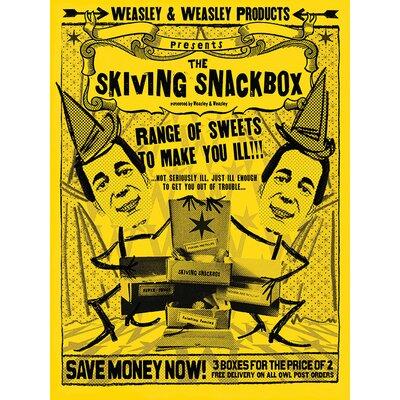 Art Group Harry Potter - Skiving Snackbox Vintage Advertisement Canvas Wall Art