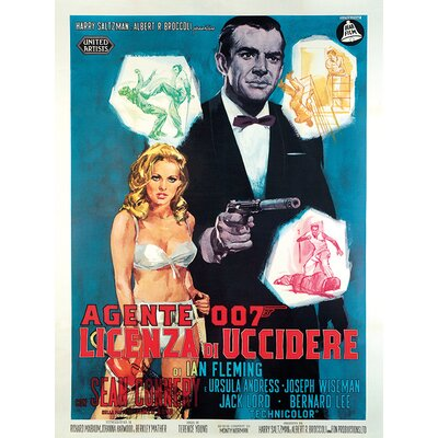 Art Group James Bond - Licenza Di Uccidere Vintage Advertisement Canvas Wall Art