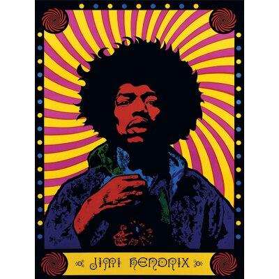 Art Group Jimi Hendrix - Psychedelic Canvas Wall Art