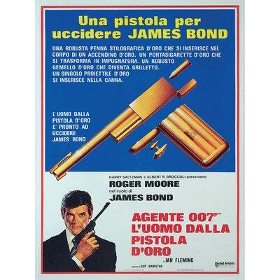 Art Group James Bond - Una Pistola Per Uccidere Vintage Advertisement Canvas Wall Art