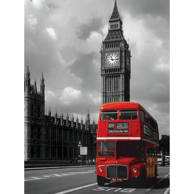 Art Group London Red Bus Canvas Wall Art