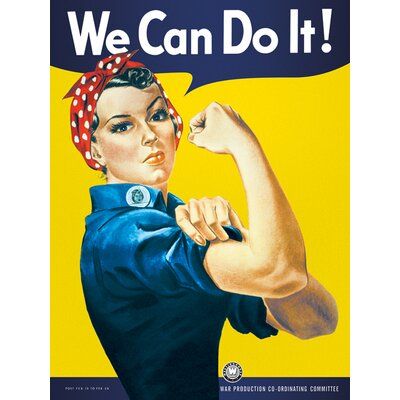 Art Group We Can Do It Vintage Advertisement Canvas Wall Art