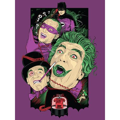 Art Group DC Retro Batman Villains Vintage Advertisement Canvas Wall Art