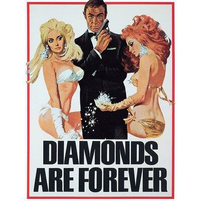 Art Group James Bond - Diamonds Are Forever - Girls Vintage Advertisement Canvas Wall Art