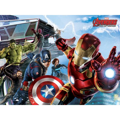 Art Group Avengers Age of Ultron - Re-Assemble Vintage Advertisement Canvas Wall Art