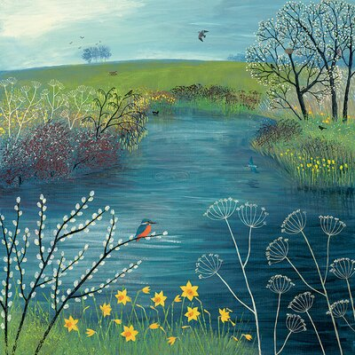 Art Group Jo Grundy Pool - Spring at Kingfisher Canvas Wall Art