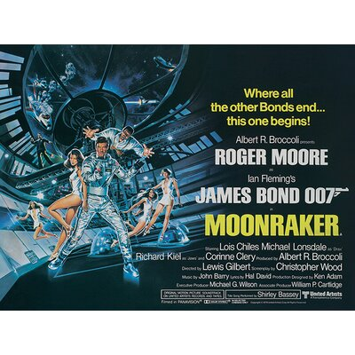 Art Group James Bond - Moonraker - Landscape Vintage Advertisement Canvas Wall Art