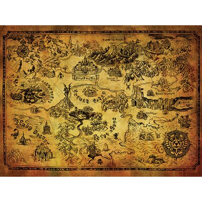 Art Group The Legend of Zelda - Hyrule Map Canvas Wall Art