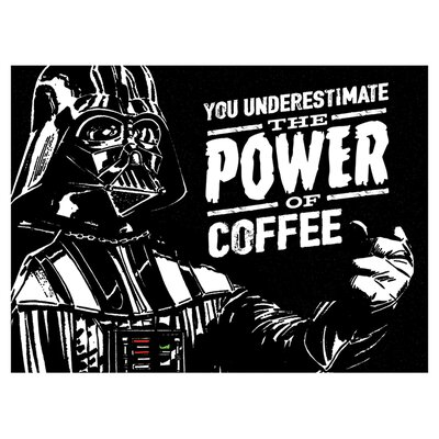 Art Group Star Wars - The Power Of Coffee Vintage Advertisement Canvas Wall Art