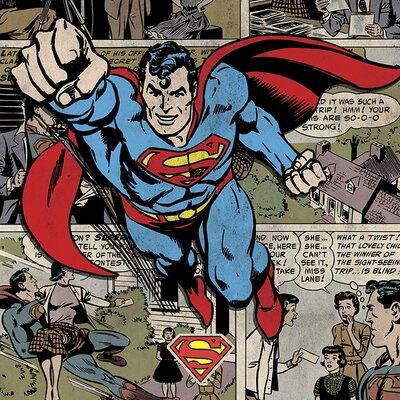 Art Group Superman - Burst Canvas Wall Art