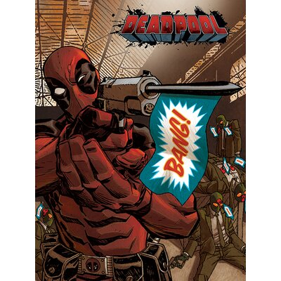 Art Group Deadpool - Bang Vintage Advertisement Canvas Wall Art