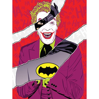 Art Group DC Comics - 1966 Batman and Joker Vintage Advertisement Canvas Wall Art