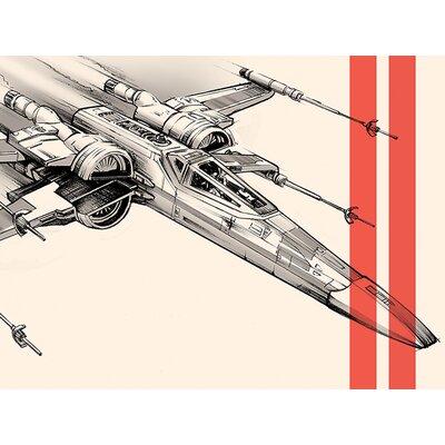 Art Group Star Wars Episode Vii - X-Wing Pencil Art Canvas Wall Art