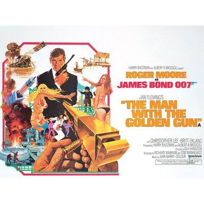 Art Group James Bond - The Man with the Golden Gun - Landscape Vintage Advertisement Canvas Wall Art