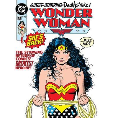 Art Group DC Comics Wonder Woman - She'S Back Vintage Advertisement Canvas Wall Art
