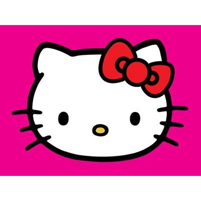 Art Group Hello Kitty - Magenta Canvas Wall Art