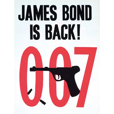 Art Group James Bond - Is Back! Vintage Advertisement Canvas Wall Art