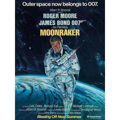 Art Group James Bond - Moonraker - Outer Space Vintage Advertisement Canvas Wall Art