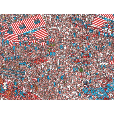 Art Group Where's Wally - the Land of Woofs Canvas Wall Art