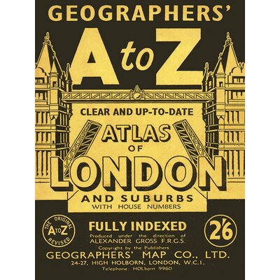 Art Group A-Z - Vintage 1 Vintage Advertisement Canvas Wall Art