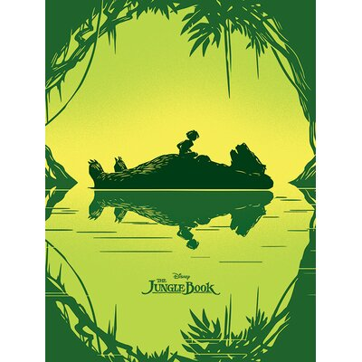 Art Group The Jungle Book - Baloo and Mowgli Vintage Advertisement Canvas Wall Art