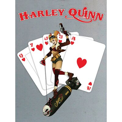 Art Group DC Comics - Harley Quinn Cards Vintage Advertisement Canvas Wall Art