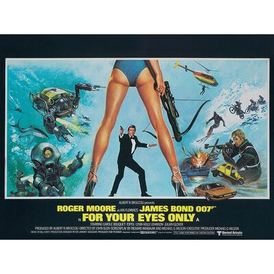Art Group James Bond - For Your Eyes Only - Legs Vintage Advertisement Canvas Wall Art