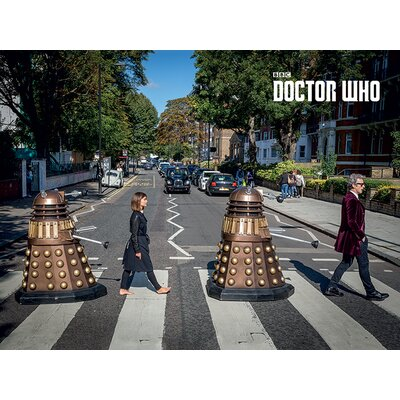 Art Group Doctor Who - Abbey Road Vintage Advertisement Canvas Wall Art